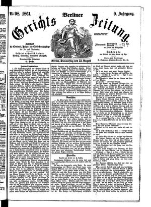 Berliner Gerichts-Zeitung vom 22.08.1861