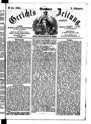 Berliner Gerichts-Zeitung vom 24.08.1861