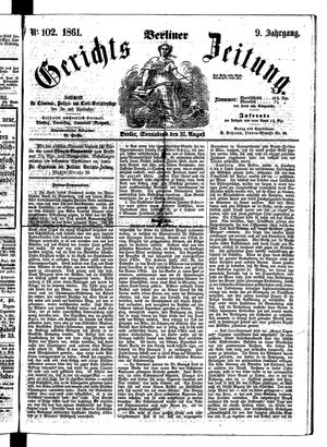 Berliner Gerichts-Zeitung vom 31.08.1861