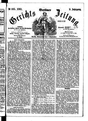 Berliner Gerichts-Zeitung vom 07.09.1861