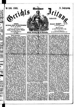 Berliner Gerichts-Zeitung on Sep 10, 1861