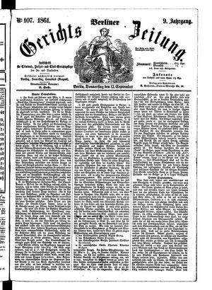 Berliner Gerichts-Zeitung vom 12.09.1861