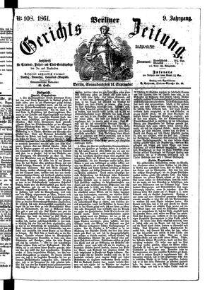 Berliner Gerichts-Zeitung vom 14.09.1861
