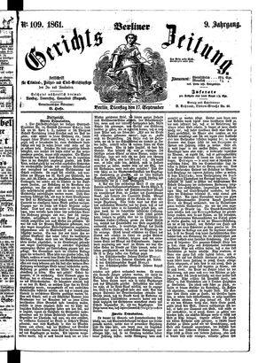 Berliner Gerichts-Zeitung vom 17.09.1861