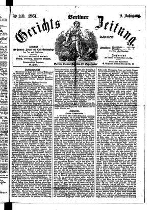 Berliner Gerichts-Zeitung on Sep 19, 1861