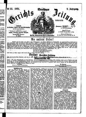 Berliner Gerichts-Zeitung vom 21.09.1861