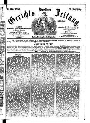 Berliner Gerichts-Zeitung vom 24.09.1861