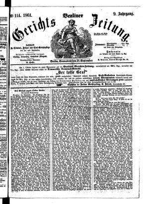 Berliner Gerichts-Zeitung vom 28.09.1861