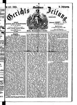 Berliner Gerichts-Zeitung vom 05.10.1861