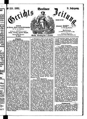 Berliner Gerichts-Zeitung vom 07.10.1861