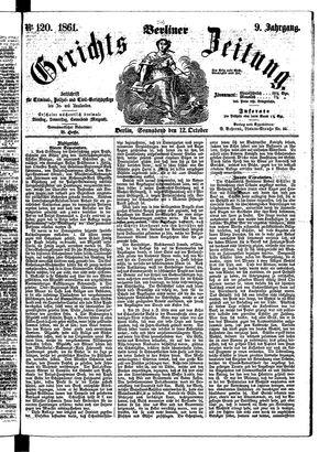 Berliner Gerichts-Zeitung vom 12.10.1861