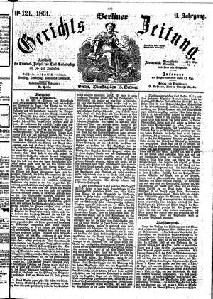 Berliner Gerichts-Zeitung vom 15.10.1861