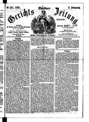 Berliner Gerichts-Zeitung vom 17.10.1861