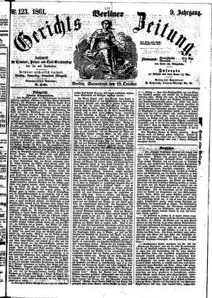 Berliner Gerichts-Zeitung on Oct 19, 1861