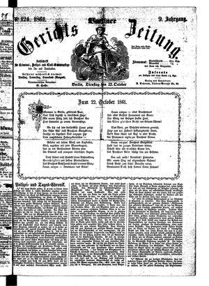 Berliner Gerichts-Zeitung vom 22.10.1861