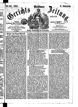 Berliner Gerichts-Zeitung vom 24.10.1861
