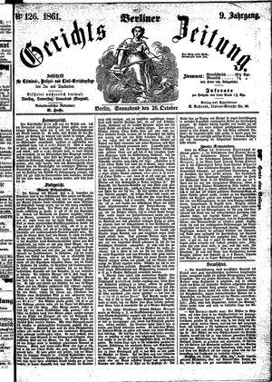 Berliner Gerichts-Zeitung vom 26.10.1861