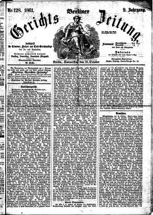 Berliner Gerichts-Zeitung vom 31.10.1861