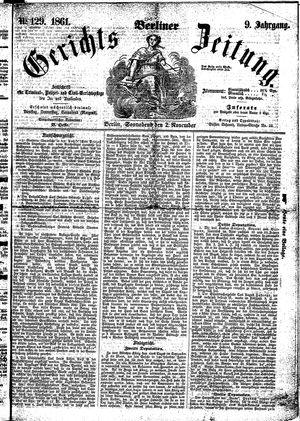Berliner Gerichts-Zeitung vom 02.11.1861
