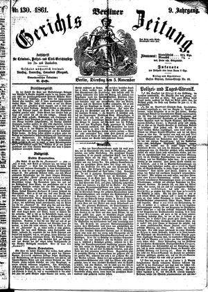 Berliner Gerichts-Zeitung vom 05.11.1861