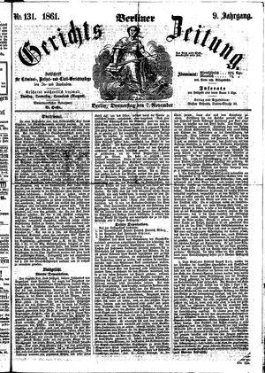Berliner Gerichts-Zeitung vom 07.11.1861
