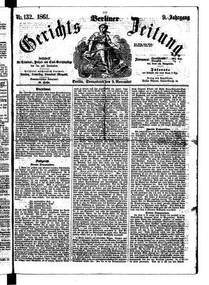 Berliner Gerichts-Zeitung vom 09.11.1861