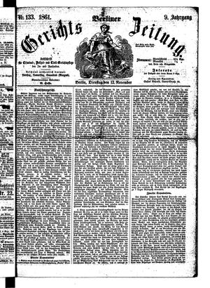 Berliner Gerichts-Zeitung vom 12.11.1861