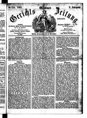 Berliner Gerichts-Zeitung vom 14.11.1861