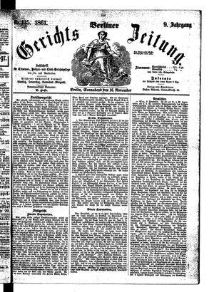 Berliner Gerichts-Zeitung vom 16.11.1861