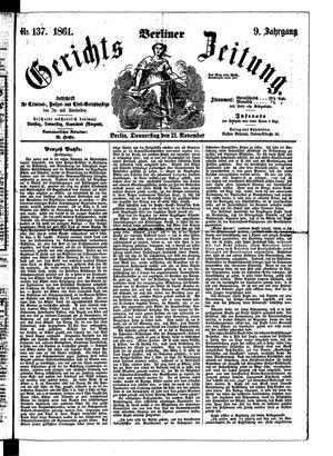 Berliner Gerichts-Zeitung vom 21.11.1861