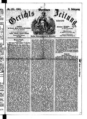 Berliner Gerichts-Zeitung vom 23.11.1861