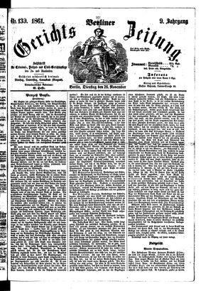 Berliner Gerichts-Zeitung vom 26.11.1861