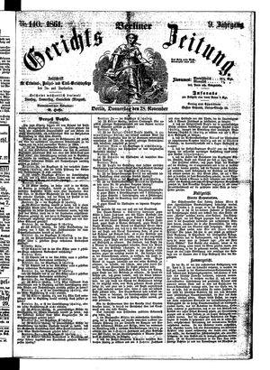 Berliner Gerichts-Zeitung vom 28.11.1861