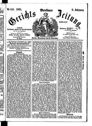 Berliner Gerichts-Zeitung vom 30.11.1861