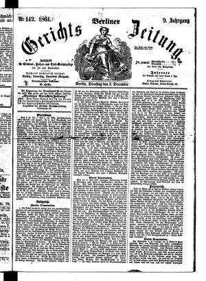 Berliner Gerichts-Zeitung vom 03.12.1861