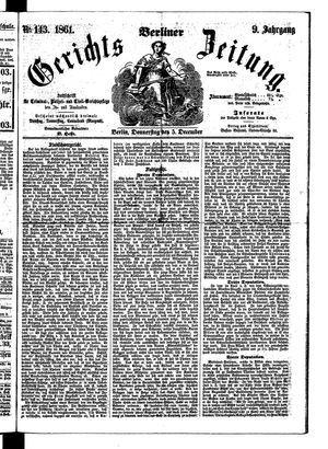 Berliner Gerichts-Zeitung vom 05.12.1861