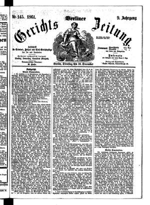 Berliner Gerichts-Zeitung vom 10.12.1861