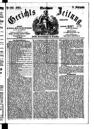 Berliner Gerichts-Zeitung vom 12.12.1861