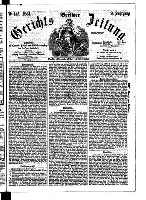 Berliner Gerichts-Zeitung vom 14.12.1861