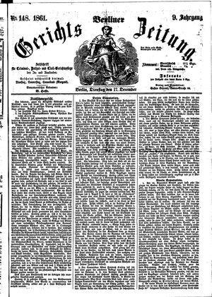 Berliner Gerichts-Zeitung vom 17.12.1861