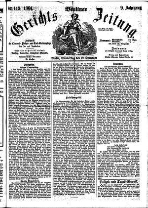 Berliner Gerichts-Zeitung vom 19.12.1861