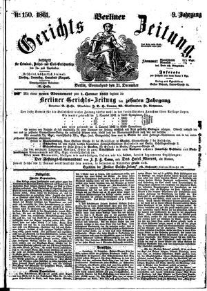 Berliner Gerichts-Zeitung on Dec 21, 1861