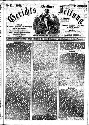 Berliner Gerichts-Zeitung vom 24.12.1861