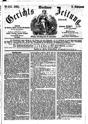 Berliner Gerichts-Zeitung vom 31.12.1861