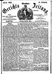 Berliner Gerichts-Zeitung (22.07.1862)