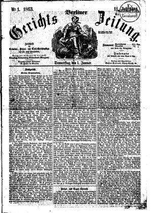 Berliner Gerichts-Zeitung on Jan 1, 1863