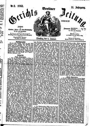 Berliner Gerichts-Zeitung vom 06.01.1863