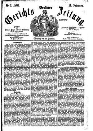 Berliner Gerichts-Zeitung vom 13.01.1863