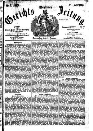 Berliner Gerichts-Zeitung vom 15.01.1863