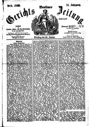 Berliner Gerichts-Zeitung on Jan 20, 1863